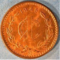 1946 Mexico 1 Centavo Toned Gem Uncirculated