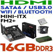 GAMING COMBO AMD A10-7890K CPU+16GB DDR3 RAM+MSI A68HI AC HDMI mITX Motherboard