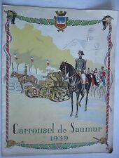 Carrousel de Messieurs les Officiers. SAUMUR. Programme 1939.