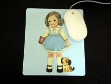*Party Favors* Korean Afrocat Paper Doll Mate Lg HQ Thick Mouse Pad ~Blue ALICE