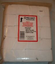 """1000 1 3/4"""" square  Cleaning Patches by Pro Shot 270 7mm 308 30-06 7.62 caliber"""