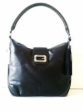 GUESS PARKWAY Black-multi satchel with tassel and studs 100% Authentic NWT
