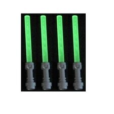 LEGO MINIFIGURE WEAPONS (4) LIGHTSABERS GLOW IN THE DARK STAR WARS GRIEVOUS JEK