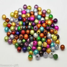 500PCs Mixed Miracle Acrylic Round Spacer Beads 8mm
