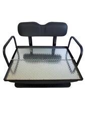 Rear Flip seat kit for EZGO Golf Cart TXT/Medalist Model w/FREE Grab Bar-BLACK