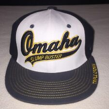 Omaha Slump Buster Triple Crown Zephyr Z Baseball Hat Size S Black Yellow White