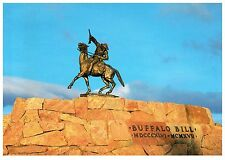 THE SCOUT BUFFALO BILL HISTORICAL CENTER CODY WYOMING CHROME POSTCARD COND: VG
