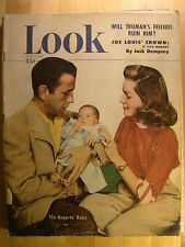 Look Magazine June 7 1949  Lauren Bacall Humphrey Bogart Baby