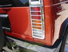 03+ Hummer H2 CHROME TAIL LIGHT COVERS guards surrounds
