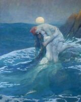 The Mermaid Howard Pyle Fine Art Painting Print CANVAS Giclee Reproduction Small