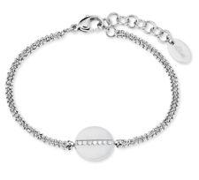 s.Oliver 2022650 Damen Edelstahl Armband mit Weißen Steinen neu
