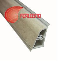 ALZATINA PVC BORDO STONDATO TOP PIANO CUCINA CM.200X2,5X4H. COLORE TRAVERTINO