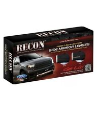 Recon Side Mirror Lenses Smoked Two Piece Set 09-14 Ford SVT Raptor/F150 New