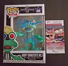 BILL FARMER Authentic Hand-Signed GOOFY Kingdom Hearts MI POP vinyl (JSA COA)