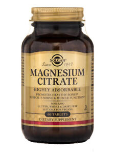 Solgar Magnesium Citrate Tablets, Pack of 60 Promotes Healthy Bones