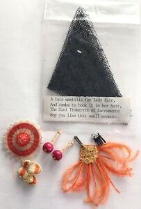 VTG Artisan Miniature Dollhouse Tinkerers Of Sac., CA. Mantilla Maracas Bundle