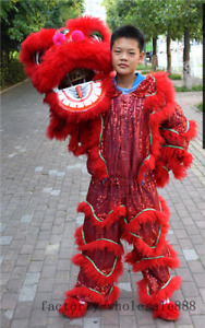 Advertising Pur Lion Dance Mascot Costume Pure Wool Southern Lion Parade Suit A+