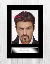 George Michael 14 A4 reproduction autograph poster with choice of frame