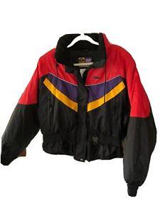 VTG Ski-Doo Sno Gear Rotax Bombardier Jacket Red Black Purple Yellow Women's L