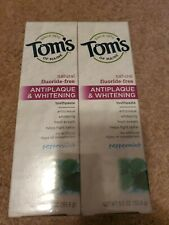 Tom'S Of Maine Antiplaque And Whitening Toothpaste Spearmint  5.5 Oz  Case Of 6