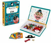 Janod J02716 Magneti' Book Crazy Faces Educational Creative Magnet & Card Game
