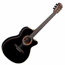 "Electro Acoustic Classical Nylon String Guitar ""LAG""  Slim Cutaway   Black"