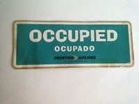 Vintage Frontier Airlines Occupied Reserved Card ~Passengers Traveling Together
