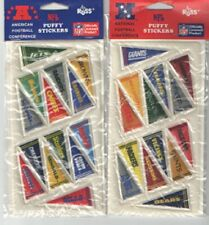 2 Vintage NFL Football Banner Russ Puffy Stickers American/National Conference