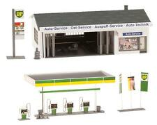 NEW ! HO Faller BP Gas / Service / Filling Station w Bay : Building KIT # 130345