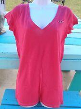 Hollister V-neck, Longer, Women M L T-shirt  (raspberry) New/ tags
