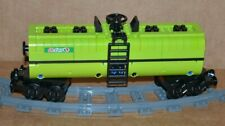 "LEGO TRAIN OCTAN LIME GREEN CUSTOM TANKER CAR 9"" inches long MOC/RC/9V/CITY/TOWN"