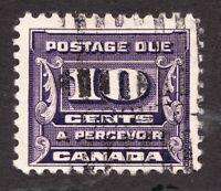 #J14 - Canada - 10c Postage Due decent cancel - 1933 - Used FVF -  superfleas -