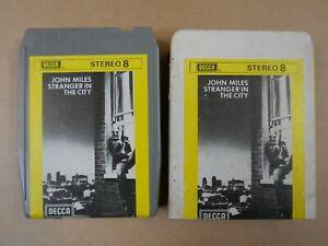 8 track cartridge + slip case JOHN MILES - STRANGER IN THE CITY