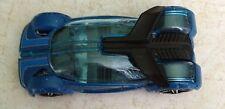 "IRIDIUM TS-07 HOT WHEELS CAR 2.5"" BLUE TRANSLUCENT AUTO DIECAST 1:64 USED MATTEL"
