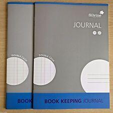 NEW - 2 x A4 BOOK KEEPING JOURNAL - Silvine Office Accounts Cash Ledger  2 BOOKS