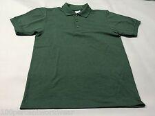 Size MEDIUM Gildan BOTTLE GREEN Polycotton Short Sleeve Mens Polo Shirt New