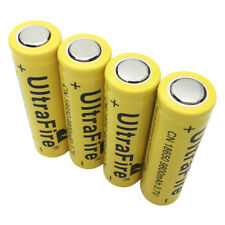 4X Flat Top 18650 3.7V 9800mAh Li-ion Rechargeable Battery for Flashlight Torch
