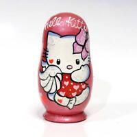 "Russian Matryoshka Wooden Nesting Dolls /""Hedgehog/"" set 3 pcs Handmade #2"