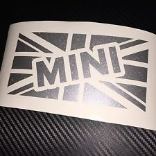 SILVER FLAKE MINI Union Jack Sticker Decal Cooper Clubman Countryman JCW Classic