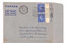 BG124 1945 GB Paddington AIR LETTER Canada Forces RCAF Toronto