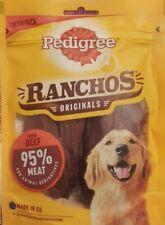2 x Pedigree Ranchos Originals Dog Treats With Beef 70g 95% Meat Snack Reward
