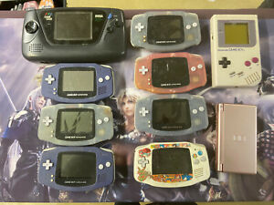 lot de 10 consoles mixte game boy / color / game gear / ds / game and watch , PO