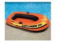 INTEX EXPLORER 200 INFLATABLE BOAT SWIMMING POOL LAKE NEW IN BOX!