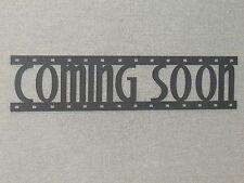 COMING SOON Movie Film Strip Wood Wall Word Sign Art Decor Movies Reel