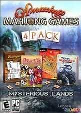 NEW & SEALED! Amazing Mahjong Games 4 Pack Mysterious Lands - PC