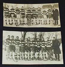 1940's - TROIS RIVIERES, QC, CANADA - HOCKEY TEAM - PHOTOS (2) - ORIGINAL