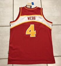 NWT ADIDAS SWINGMAN Atlanta Hawks Spud Webb NBA Jersey Men's XL
