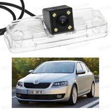 4 LED Car Rear View Camera Reverse Backup CCD for Skoda Octavia Sedan 2013-2016
