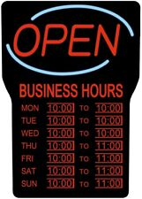 Led Sign Business Hours Restaurant Store Retail Bars Open Closed Working Hour