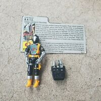 Vintage GI Joe Figure 1986 BATS complete with file card